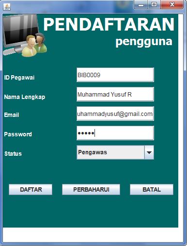 pendaftaran pengguna